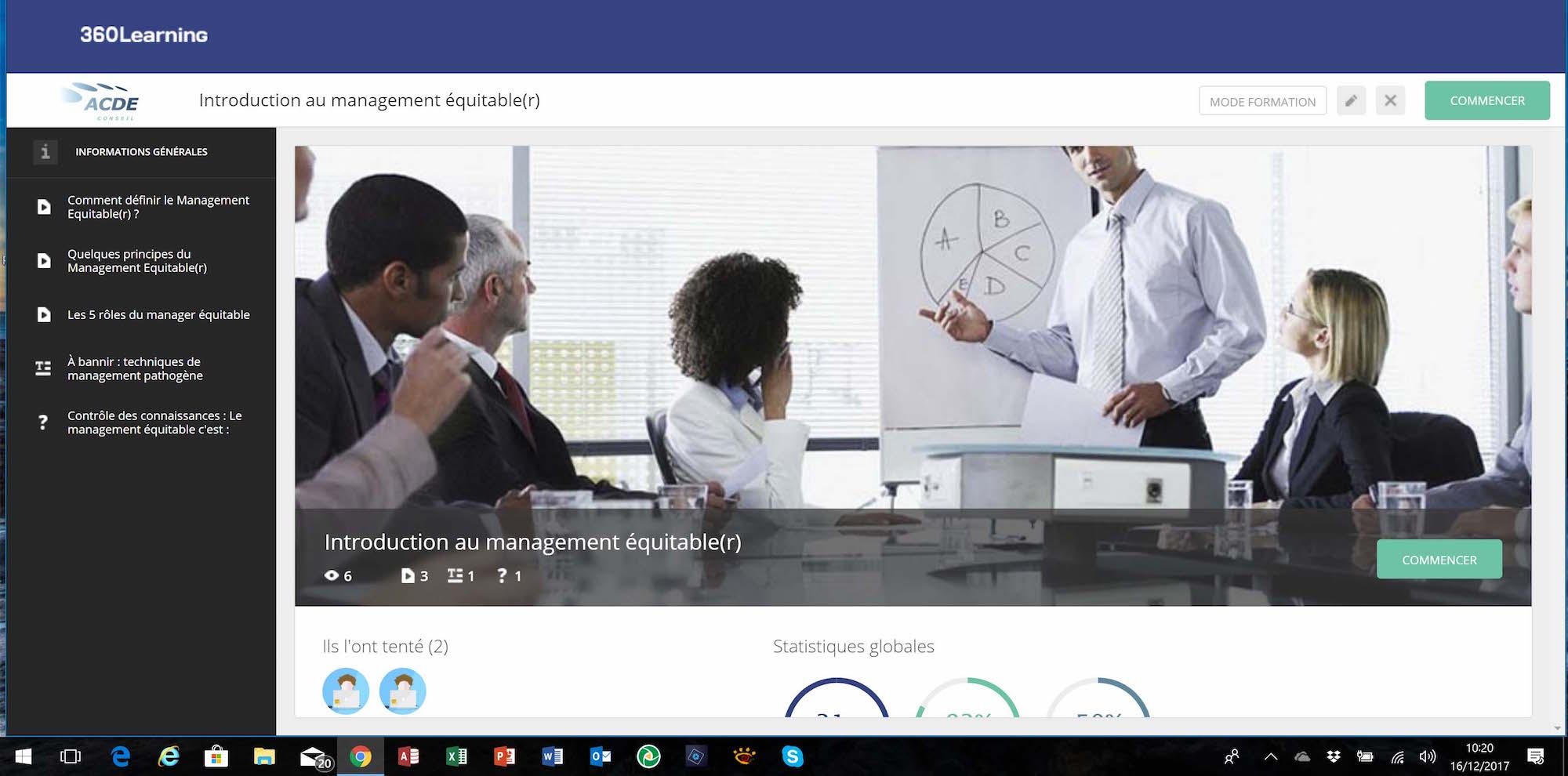 Formation en ligne sur 360learning